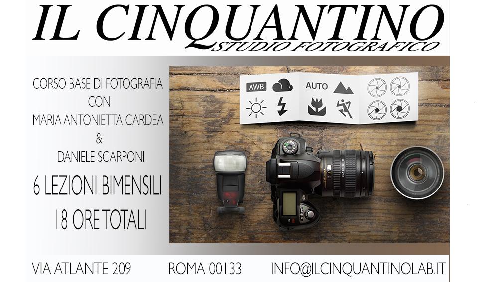 LOCANDINA CORSO BASE DI FOTOGRAFIA 16-9